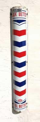 Breve storia del palo da barbiere 1903 barbershop for Simbolo barbiere